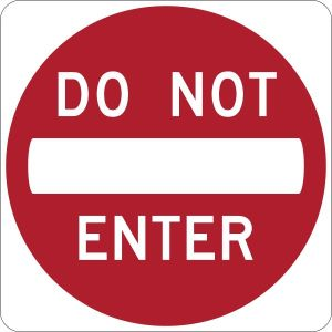 Do_Not_Enter_sign