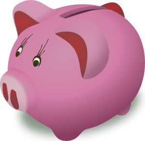 Ms. Piggy Bank sez: community karma no longer requires a deposit slip.